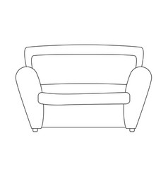 armchair icon image vector image
