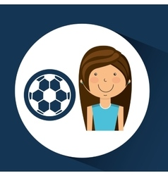 Athlete girl football sport style vector