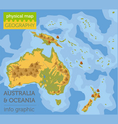 Australia and oceania physical map elements build vector