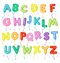Balloon colorful font letters from a to z vector