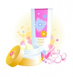 beauty cream with flowers vector image
