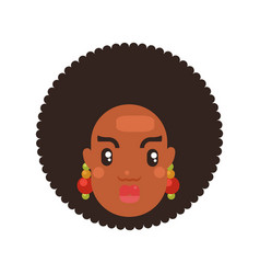 black skin woman head vector image