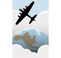 Bomber over America vector