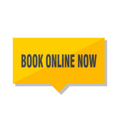 Book online now price tag vector