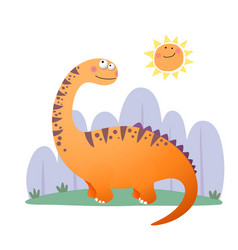 Cartoon argentinosaurus dinosaur vector