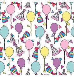 Color happy birthday party celebration background vector