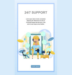 concept online support customer vector image