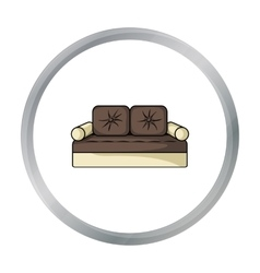 Couch icon in cartoon style isolated on white vector image vector image