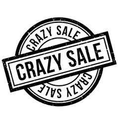 Crazy Sale rubber stamp vector
