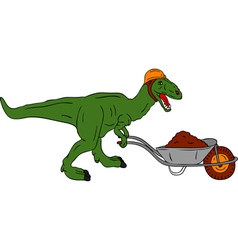 Dinosaur worker vector
