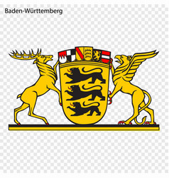 Emblem of baden-wrttemberg province of germany vector