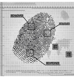 Finger print background vector image