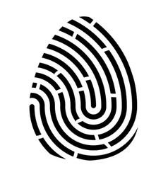 fingerprint logo symbol icon design vector image