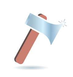 flat icon of the axe vector image