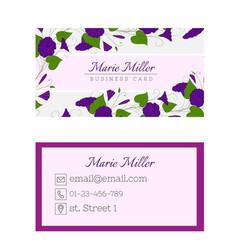 floral business card template elegant feminine vector image