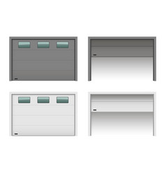 Garage lfting gates set vector