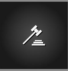 Gavel icon flat vector