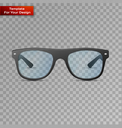 glasses on transparent background vector image