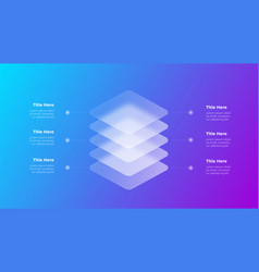 Glassmorphism infographics concept with 3d vector