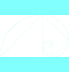 Golden ratio template blank with guides vector