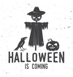 Halloween is coming concept vector