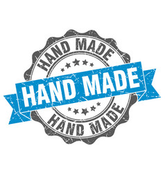 Hand made stamp sign seal vector