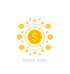 Hedge fund icon vector