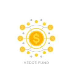 hedge fund icon vector image