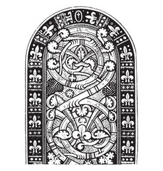 Heiligenkreuz is a romanesque stained glass vector