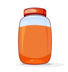 Honey in jar a bright colored cardan drawing vector