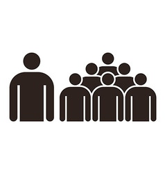 Human figure and group of people vector