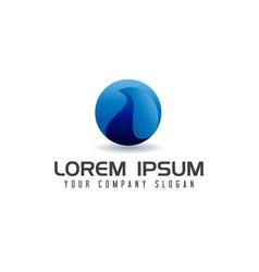 internet globe logo design concept template vector image