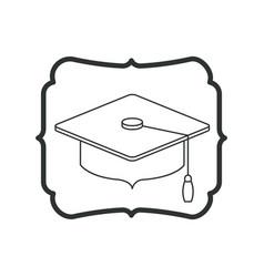 Isolated graduation cap of school design vector