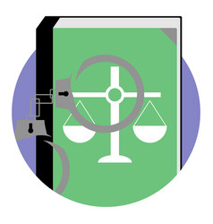 Justice and punishment icon vector