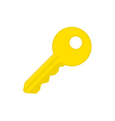 key simple sign vector image