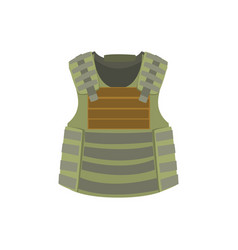 Khaki bulletproof vest colorful vector