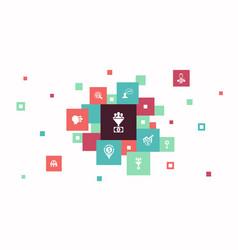 Lead conversion infographic 10 steps pixel design vector