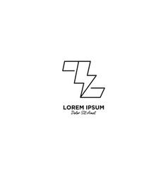 Letter z flash logo design vector