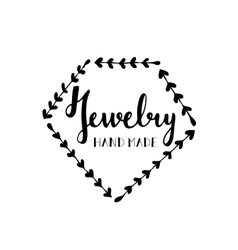 Logo for shop of handmade jewelry vector