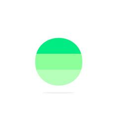 logo letter o green energy battery vector image