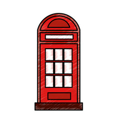 london phone cab isolated icon vector image