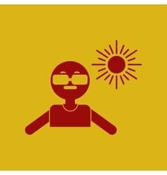 Man in sunglasses vector