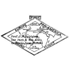 Map black white label men print graphic vector