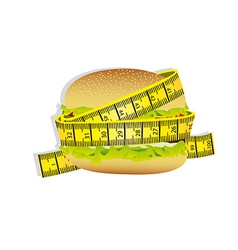 Measuring tape around burger vector