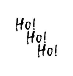 merry christmas card with calligraphy ho ho ho vector image