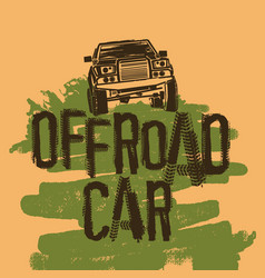 Off road car vector