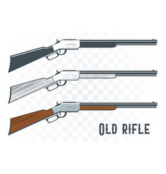 old rifles set in vintage style vector image
