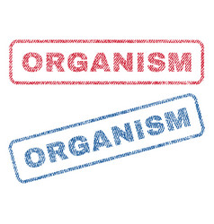 Organism textile stamps vector