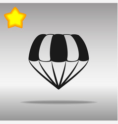 Parachute black icon button logo symbol vector