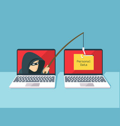 phishing scam hacker attack and web security vector image